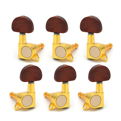 $ CDN15.81 • Buy Gold Electric Acoustic Guitar Tuners Machine Heads Tuning Pegs Sealed Keys Knobs