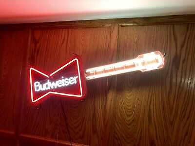 $ CDN837.84 • Buy Vintage Budweiser Guitar Neon Sign Light Collectible Bar Beer Advertise
