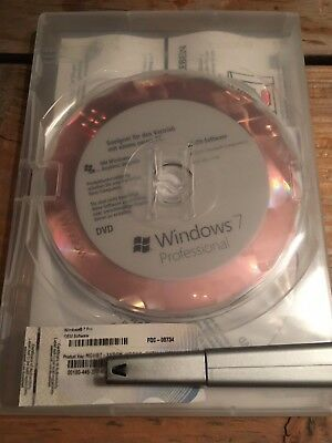 Windows 7 Professional, 32 Bit / Holo DVD, DE, OEM Vollversion Mit MwSt Rechnung • 34.50£