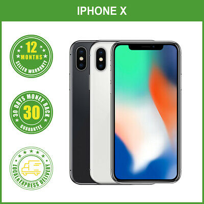 AU1020 • Buy New Apple IPhone X 64GB 256GB  Factory Unlocked Black Silver Smartphone Sealed