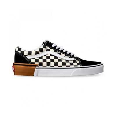 AU59.95 • Buy VANS OLD SKOOL BLACK GUM BLOCK CHECKERBOARD  Old School