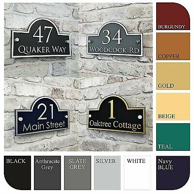 Contemporary House Address Plaques & Door Number Signs Personalised Name Plate • 15.99£