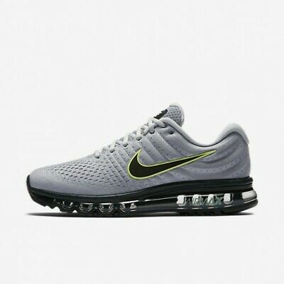 $129.95 • Buy Nike Air Max 2017 Wolf Grey Black Platinum 849559-012 Men's Running Shoes NEW!