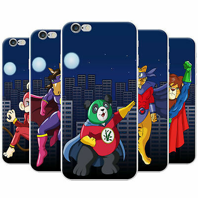 £3.95 • Buy Superhero Action Hero Animals Snap-on Hard Case Phone Cover For Apple Phones