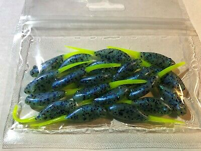 """14 COUNT 2.4/"""" Swim Shad CRAPPIE-PANFISH-SOLID SOFT PLASTIC JIGS SCENTED"""