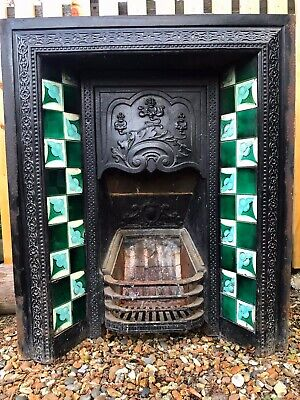 £450 • Buy Victorian Cast Iron Fireplace With Slate (Marble Effect) Surround