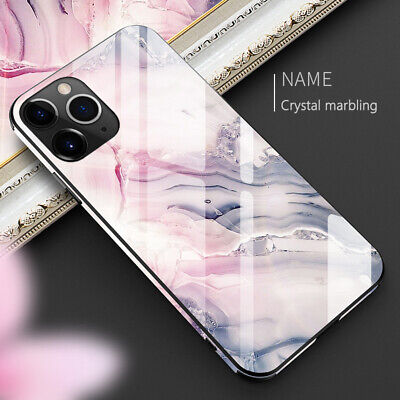 AU5.77 • Buy Luxury Marble Tempered Glass Case Cover For IPhone 12 11 Pro Max XS XR 8 7 Plus