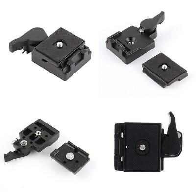 $11.30 • Buy Quick Release Plate Clamp Adapter For Manfrotto 200PL-14 Tripod System M4S1