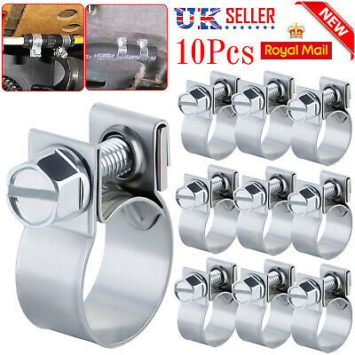 £4.10 • Buy 10 X Mini Hose Jubilee HOSE Clip Clamp Fuel Line Diesel Petrol Pipe Clamps Clips