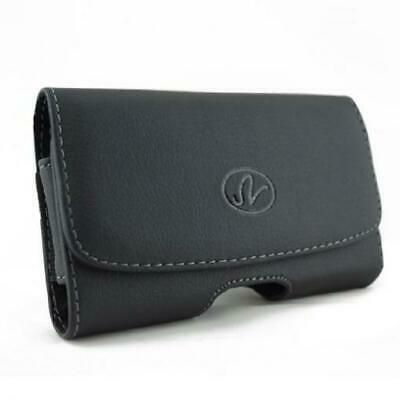 $11.72 • Buy BLACK HORIZONTAL LEATHER CASE SIDE COVER POUCH HOLSTER BELT CLIP For SMARTPHONES