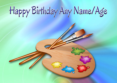 £3.99 • Buy Personalised Artist Painter Craft Birthday Card  A5 Size