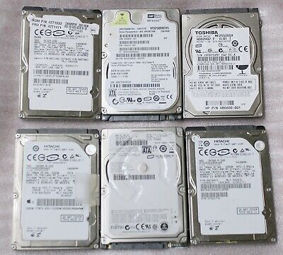 $ CDN150 • Buy Lot Of 6 Assorted Laptop 2.5  Sata Hard Drives (250/320gb) - Tested
