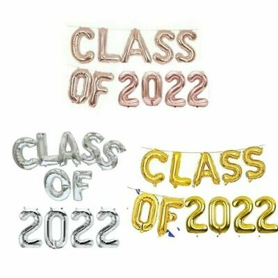 £2.65 • Buy 16  ROSE GOLD SILVER GOLD CONGRATS Party Congrats PROM CLASS OF 2021 Balloons UK