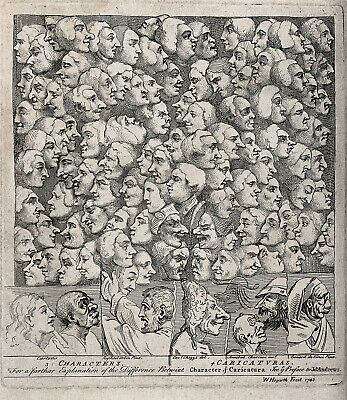 £3.25 • Buy Characters & Caricatures By William Hogarth 1743 9x8 Inch Print
