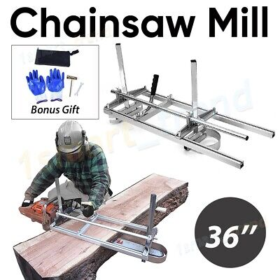 Aluminum Steel Chainsaw Mill Suits Up To 36  Bar Slabbing Planks 8Lumber Ripping • 78.97£