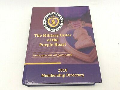 $55 • Buy 2018 Membership Dictionary The Military Order Of The Purple Heart Hardcover Book