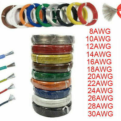 2Meter Silicone Wire Cable 10 12 14 16 18 20 24 26 28 AWG Tinned Copper Line • 0.90$