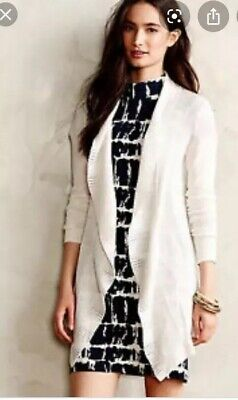 $ CDN30.49 • Buy Anthropologie Knitted Knotted Cardigan Lotta Wrap Ruffle Ivory Size Small
