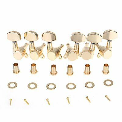 $ CDN37.76 • Buy Gold 3R3L Guitar Locking Tuners Machine Heads Tuning Pegs Keys Electric Acoustic