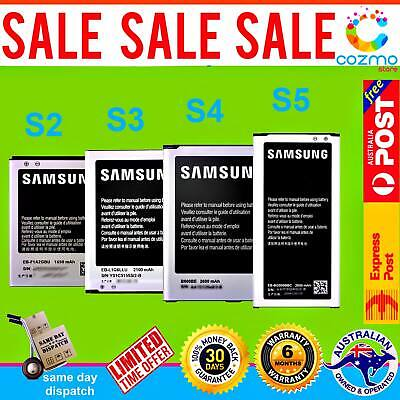 AU13.40 • Buy Genuine Original Premium OEM Battery Replacement For Samsung Galaxy S2 S3 S4 S5