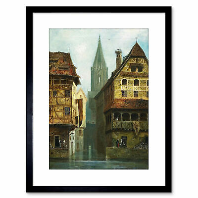 £14.99 • Buy Painting Cityscape Assmus A?‰Mus Strasbourg Cathedral Framed Art Print 9x7 Inch