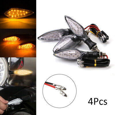 4x 16 LED Motorcycle Motorbike Turn Signal Indicator Light Lamp Indicator Amber • 6.29£