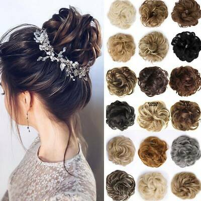 $4.59 • Buy Messy Curly Fake Hair Bun Piece Extensions Hairpiece Hair Clip In Scrunchie US