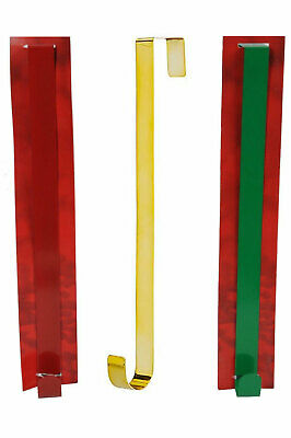 WREATH HANGER 30cm GOLD RED GREEN Holder Sturdy METAL Door Hanger Christmas • 4.49£