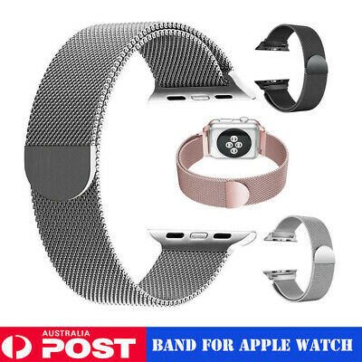 AU12.79 • Buy Milanese Loop Mesh Stainless Steel Magnetic Band Strap For A Pple Watch 1/2/3/4