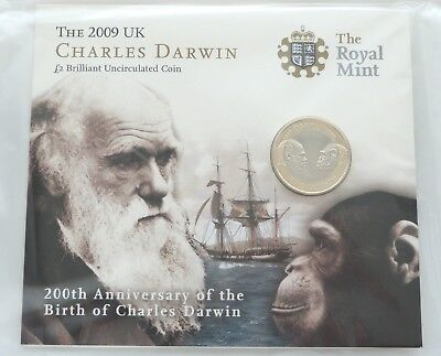 £99.95 • Buy 2009 Royal Mint Charles Darwin £2 Two Pound Coin Pack Sealed Uncirculated