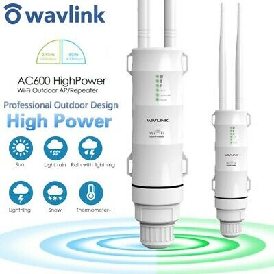 AU99.95 • Buy Wavlink Dual-Band AC600 WiFi Range Extender Booster 2.4/5Ghz High Power Outdoor