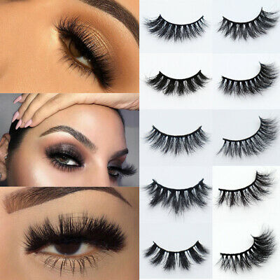UK 5 Pairs Fake Eyelashes Long Thick Natural False Eye Lash Set Mink MIX Makeup • 3.59£