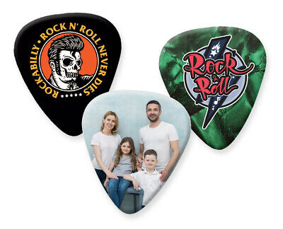 $ CDN33.50 • Buy Guitar Picks Printed With Your Photo & Text Personalised Customised Plectrums