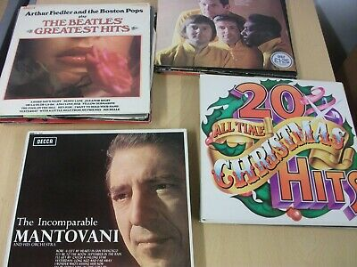 40 Vinyl Records, 12 LPs, Assorted Easy Listening, 1950's To 1970's -ref 3439 • 25£