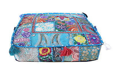 £11.52 • Buy 22  Large Square Floor Pillow Cushion Cover Patchwork Indian Home Decorative