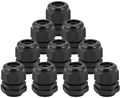 £4.99 • Buy Black M20 20mm Waterproof IP68 Nylon Cable Stuffing Gland Pack Of 10 UK Stock