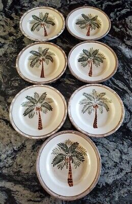 $29.99 • Buy Home Trends West Palm Tree Salad Plates X 7