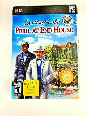 PC Game - Agatha Christie - Peril At End House (Hercule Poirot) W/CD And Box • 5.36£