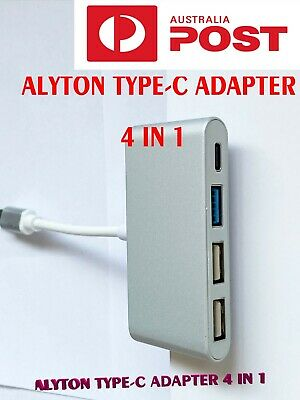 AU11 • Buy ALYTON 4-in-1 USB Type-C Hubs USB3.0 Adapters For Laptop, PC And Phones