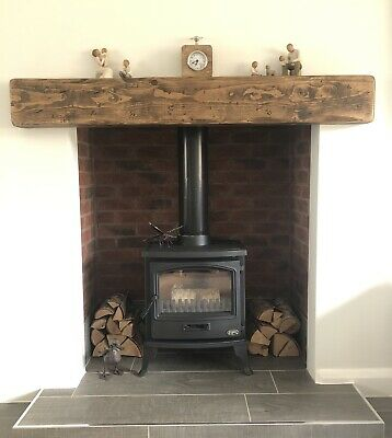Chunky Mantle Mantel Fire Surround Floating Shelf Beam 8  X 4  Fixings Included  • 107£