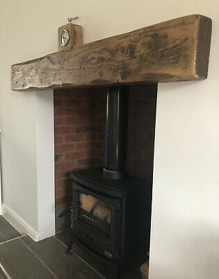 Wooden Mantle Mantel Fire Surround Floating Shelf Beam Lintel Timber 7  X 3    • 104£