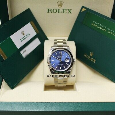 $ CDN13803.99 • Buy Rolex 126300 Datejust 41 Oyster Blue Index/Stick, Stainless Steel UNWORN! 2019