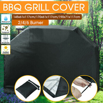 AU20.98 • Buy Waterproof BBQ Cover 2/4/6 Burner Outdoor Gas Charcoal Barbecue Grill Protector