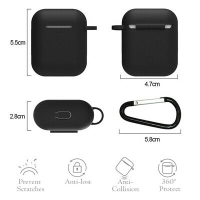 AU5.96 • Buy Silicone Case Cover Skin & Strap Holder For Apple Airpod Accessories Airpods AU