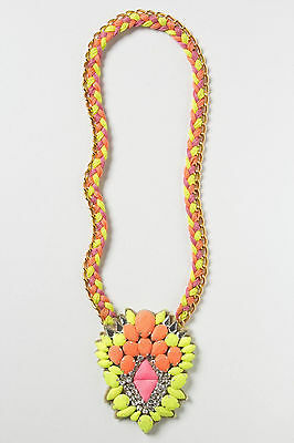 Anthorpologie Zowie Acorn Necklace By Ranna Gill, Long Sparkly Boho Statement  • 49$