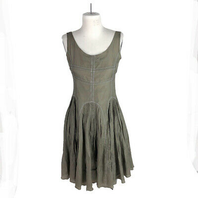 $ CDN37.06 • Buy Ariella Cotton Silk Fit And Flare Scoop Neck Dress Size Small, Layered Skirt