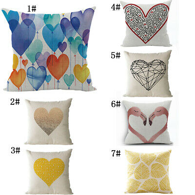 Personalised Love Cotton And Linen Cushion Cover Living Room Sofa Pillowcase New • 3.10£