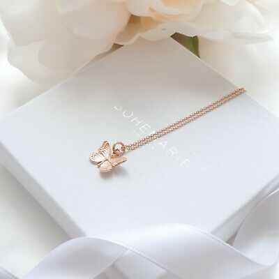 Rose Gold Plated Butterfly Necklace, Layering Necklaces, Necklaces For Women • 16£