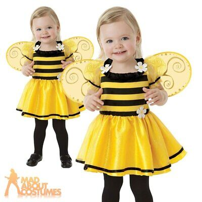 £12.49 • Buy Baby Little Stinger Costume Girls Buzzy Bumble Bee Fancy Dress Insect Toddler