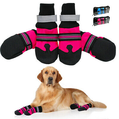 £12.03 • Buy Anti Slip Dog Boots Paw Protection Reflective Booties Waterproof Snow Rain Shoes
